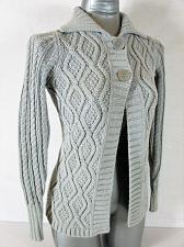 Buy MAX STUDIO womens Small L/S gray METALLIC 2 button HEAVY cardigan sweater (A5)P