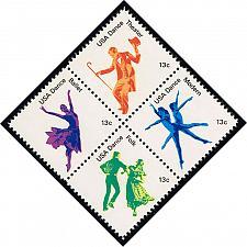 Buy US #1752a American Dance Block Set of 4; MNH (1.00) (4Stars)  USA1752a-06XVA