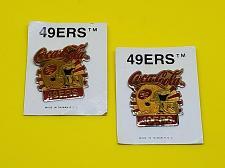 Buy VINTAGE LOT OF 2 AUTHENTIC COCA-COLA SAN FRANCISCO 49ERS LAPEL PINS NOS