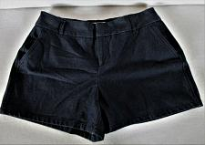 Buy ELLE womens Sz 6 W28 navy blue COTTON BLEND eyelet chino STRETCH shorts (B6)P