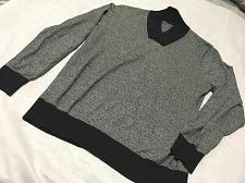 Buy Sean John Men's Black Gray Shawl‑Collar Sweater 100% Cotton 2XL
