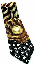Buy American Flag Baseball Glove Americana Series Patriotic Silk Novelty Tie