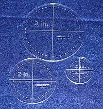 """Buy Circle Template 3 Piece Set.1"""",2"""",3"""" w/seam- Clear 1/4"""" Thick"""