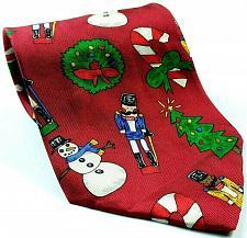 Buy Save The Children Christmas Tree Snowman Wreath Nutcracker Novelty Silk Tie