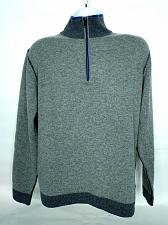 Buy Codice Mens 1/4 Zip Pullover Sweater Large Gray Cashmere Wool Blend