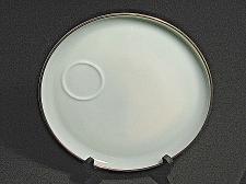Buy Vintage Fire King Delphite Turqoise Blue Plate Side Snack Sandwich w/Gold Trim