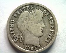 Buy 1905-O MICRO O BARBER DIME FINE F NICE ORIGINAL COIN FROM BOBS COINS FAST SHIP