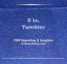 """Buy 5"""" Tumbler Quilt Template - NO Seam Allowance -Clear 1/8"""" Acrylic"""