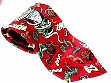 Buy Tabasco Men's 100% Silk Necktie Tabasco Bottle Pasta Noodles Novelty