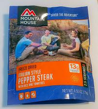 Buy MOUNTAIN HOUSE FREEZE DRIED ITALIAN PEPPER STEAK WITH RICE AND TOMATOES SEALED