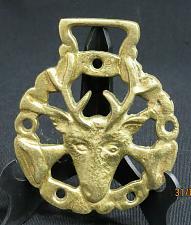 Buy Vintage Horse Brass Medallion Harness Goat Head Charles Dickens?
