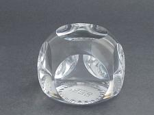 Buy cut Glass hand made paperweight signed Cristallerie Lorraine france 1968