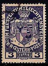 Buy LIECHTENSTEIN [1917] MiNr 0004 ( O/used )