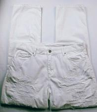 Buy BlankNYC Women's Jeans Size 30 Straight Leg Distressed Solid White