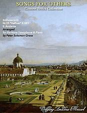 Buy Mozart - Andante from the Haffner Symphony for Baritone Saxophone and Piano