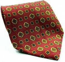 Buy Tommy Hilfiger Blue Gold Red Geometric Novelty 100% Silk Necktie