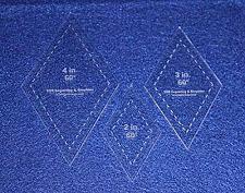 "Buy Diamond Templates. 2"", 3"", 4"" - Clear 60 Degree 1/8"""