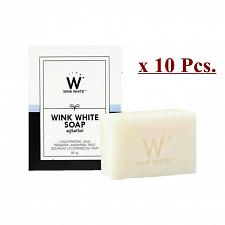 Buy 10xGLUTA SOAP WINK WHITE FACIAL BODY WHITENING BRIGHTENING CLEANSING SOAP 80G.