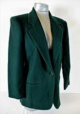 Buy POTOMAC womens Sz 6 petite L/S green FULLY LINED 1 button 100% WOOL jacket (A3)