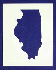 """Buy State of Illinois Stencil 14 Mil 8"""" X 10"""" Painting /Crafts/ Templates"""