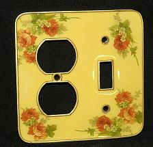 Buy Flowers Heavy Brass Light Switch Outlet Cover Toggle Wall Plates