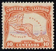 Buy El Salvador #500 Map of Central America; Used (2Stars) |ELS0500-04