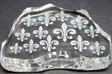 Buy Cut Glass fleur de lis pattern paperweight, 24% lead crystal