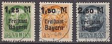 Buy GERMANY Bayern Bavaria [1919] MiNr 0174-76 A ( O/used ) [02]