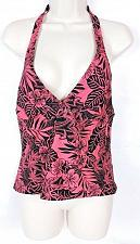 Buy Speedo Women's Halter Tankini Swimsuit Top Size 12 Floral Black Red