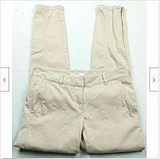 Buy Ann Taylor Loft Womens Marisa Skinny Pants Size 0 Solid Pastel Pink Zipper Ankle