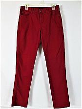 Buy DANA BUCHMAN womens Sz 4 W28 L30 red denim STRAIGHT leg STRETCH jeans (N)