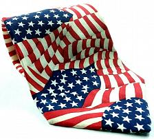 Buy Star Spangled Banner American Flag Red White Blue Novelty Silk Necktie