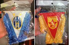 Buy Football Soccer Flag Car Pennants from Albania. KF Tirana or FK Partizani