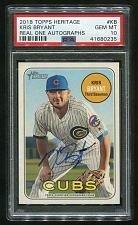 Buy 2018 TOPPS HERITAGE REAL ONE AUTO KRIS BRYANT, PSA 10 GEM MINT (41680235)