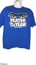 Buy Player Of The Year Bow To Da Brow Men's T-Shirt XL Blue Graphic Short Sleeve