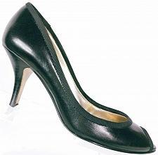 Buy Guess Women's Black Leather Peep Toe Stiletto Heel Shoes Size 5.5 M