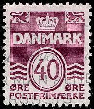 Buy Denmark #689 Wavy Lines; Used (4Stars) |DEN0689-02XBC