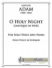 Buy Adam - O Holy Night / Cantique de Noel for High Voice in Eb Major
