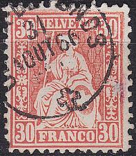 Buy SCHWEIZ SWITZERLAND [1862] MiNr 0025 a ( O/used ) [01]