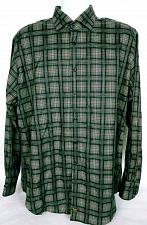 Buy Thomas Dean Men's Shirt XL Button Front Long Sleeve Black Gray Checked