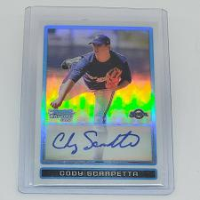 Buy MLB CODY SCARPETTA BREWERS AUTOGRAPHED 2011 BOWMAN CHROME ROOKIE REFRACTOR /500