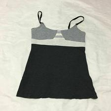Buy Lululemon Size M Tank Gray Run Yoga Adjustable elastic Straps
