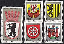 Buy GERMANY DDR [1983] MiNr 2817-21 ( OO/used ) Wappen