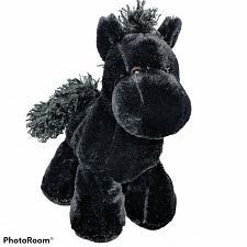 "Buy Wishpets Black Horse Pony Maxwell Plush Stuffed Animal 2006 9.5"""