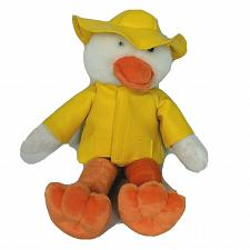 Buy GAC White Duck Plush in Yellow Raincoat Stuffed Animal 1998 11""