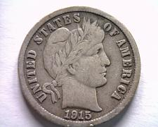 Buy 1915 BARBER DIME FINE+ F+ NICE ORIGINAL COIN FROM BOBS COINS FAST SHIPMENT