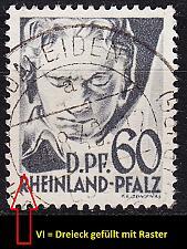 Buy GERMANY Alliiert Franz. Zone [RheinlPfalz] MiNr 0027 y VI ( O/used )
