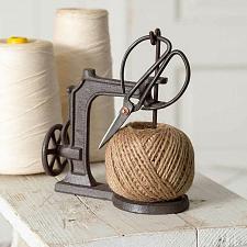 Buy Sewing Machine Scissors Twine Jute String Holder Set Vintage Cast Iron Sheers