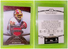 Buy Nfl Clinton portis Redskins 2009 Bowman Sterling Game-worn Jersey Mint