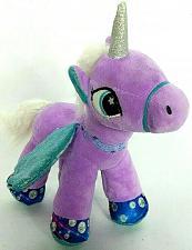 "Buy Magical Unicorn Purple Glitter Wings Pony Horse Plush Stuffed Animal 9.5"""